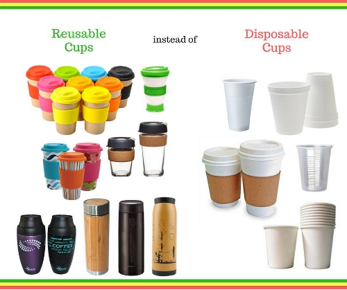 Reusable Cups, Bottles and Tumblers