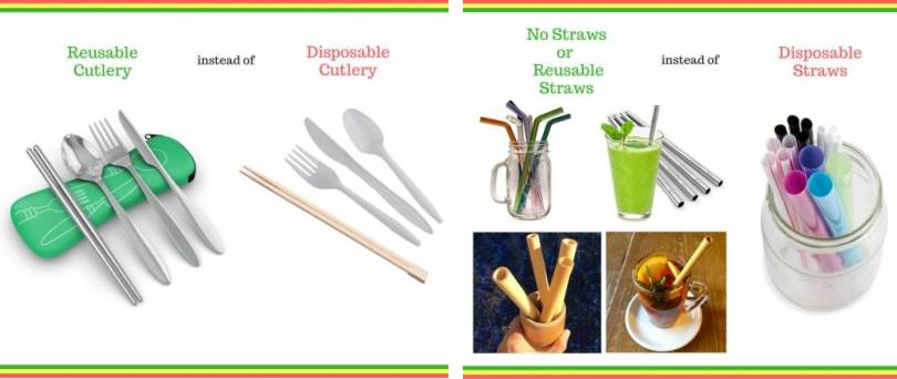 Reusable Cutlery, Utensils and Straws